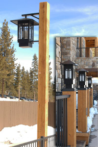 Design and manufacture wood light poles village north condos aloadofball Image collections